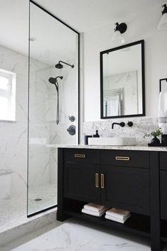 Nice 42 Luxury Black And White Bathroom Design Ideas
