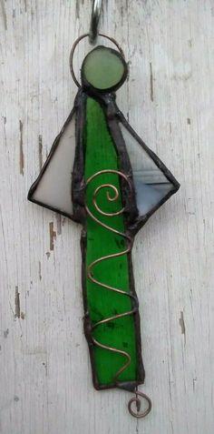 "Deko, Sonnenfänger,Schutz ""ENGEL"" in grün Tiffany technik, Unikat"