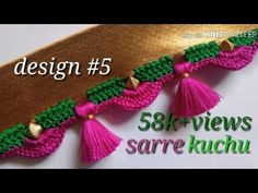ಸೀರೆ ಕುಚ್ಚು tassels designs tutorial for bignners.learn with me Saree Tassels Designs, Saree Kuchu Designs, Sari Blouse Designs, Mirror Blouse Design, Rangoli Designs Peacock, Blouse Designs Catalogue, Lehenga Saree Design, 1st Birthday Dresses, Sewing Stitches