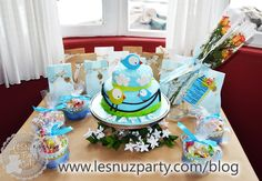Mesa de la tarta temática Pajaritos
