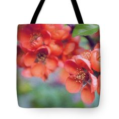 Anna Matveeva Red Flowers Tote Bag featuring the photograph Red Flowers, Greeting Card In Vintage Style by Anna Matveeva  #AnnaMatveeva #red #spring #FineArtPhotography #ArtForHome #FineArtBag