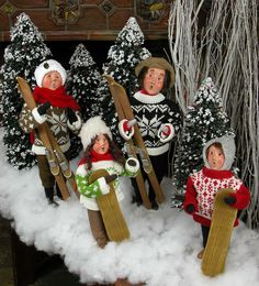 Christmas may be over, but Byers' Choice has Carolers that make great decorations all winter long! Check out this family with skis who are bundled up for the season.