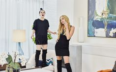 Download wallpapers Gal Gadot, Kate McKinnon, Hollywood, 2017, SNL, american actress, beauty