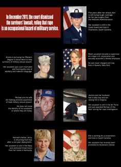 The Invisible War:  *Since 2006, more than 95,000 service members have been sexually assaulted in the U.S. military  *More than 86% of service members do not report their assault.  *Less than five percent of all sexual assaults are put forward for prosecution, and less than a third of those cases result in imprisonment.