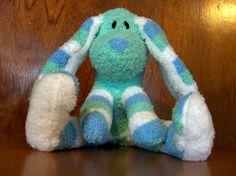 sock bunny. Love the big feet!