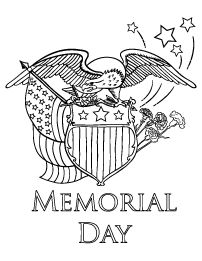 Delightful Memorial Day Coloring Page
