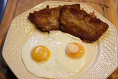 I grew up eating a version of scrapple that my family made that was basically pork butt cooked in water, then shredded and added back to . Scrapple Recipe, Southern Recipes, Pork, Eggs, Meat, Usmc, Cooking, Breakfast, Mountain
