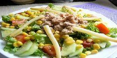 Ensalada Mixta de Atún, una receta fresca, saludable y deliciosa, muy fácil de elaborar y con una gran cantidad de fibra.