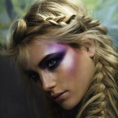 All fairies make up - lots of highlighter on cheeks and pigmented eye shadow