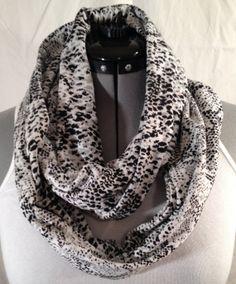 Cotton Knit Snake Skin Print Infinity Scarf by MattieSews on Etsy, $20.00