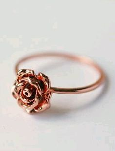 How beautiful is this accessories jewelry Rose gold simple Vintage rose ring? #accessories