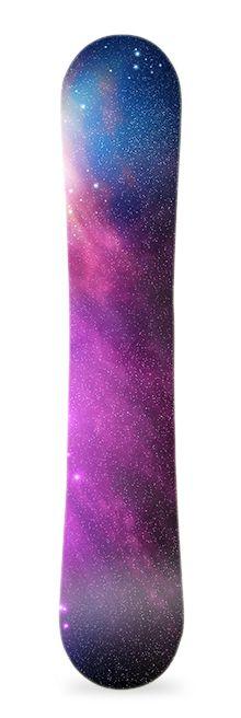 Space. Diseño de vinilo para snowboard. #greenmonkeybanana