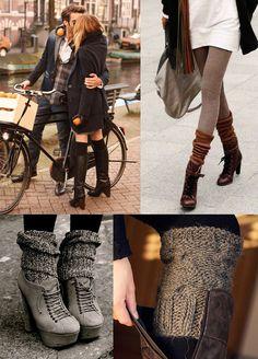 Maiko Nagao: DIY: Vecchi maniche maglione per calze-over-boots sembrano