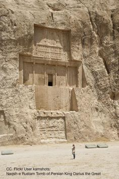 The tomb of Xerxes I of Persia at Naqsh-e Rustam archeological site, Fars, Iran (by kamshots). Ancient Aliens, Ancient Egypt, Ancient History, European History, Ancient Greece, American History, Ancient Mysteries, Ancient Artifacts, Xerxes I