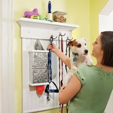 How to Build a Wall-Mounted Pet Organizer