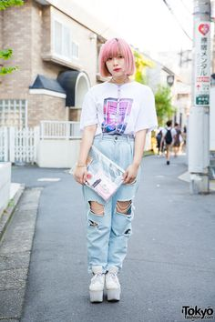 "cute. love her ""The 1975"" (http://the1975.com/) shirt. the band is really good…"
