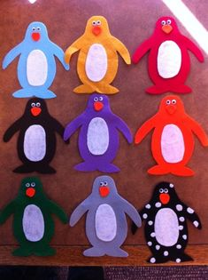 Penguins and polar bear felt board stories