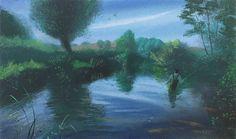 (33) Evening Fishing on the Nadder - Nicholas Hely Hutchinson - Portland Gallery