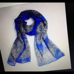 Long Chiffon Scarf Soft, measures  60cm x 60cm Accessories Scarves & Wraps