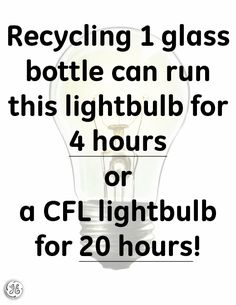 Be sure to recycle your glass bottles this week!
