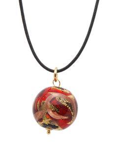 Glass Pendant & Necklace 24K Multicolor