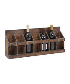 Look what I found on #zulily! Rustic Wine Rack #zulilyfinds