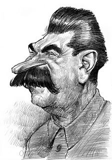 Artist:Jan Op De Beeck   Caricature:Josef Stalin
