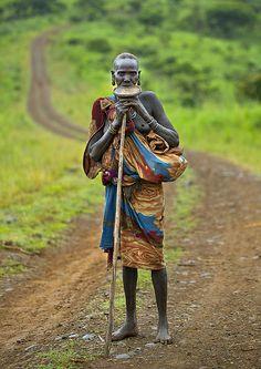 Old Suri woman, Tulgit Omo Ethiopia   Flickr - Photo Sharing!