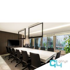 Gönye Tasarım Ofisi / Gonye Project Design. Contemporary design, anthracite, linear, office, modern, interior, design, work, architect, designer, meeting, meeting room, assembly room, wood, marble, kreon, elegant