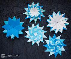 https://flic.kr/p/EVMPPQ | Origami Stars | Modular Origami Stars (Maria Sinayskaya)  squares, 12 units, no glue