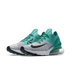 reputable site 83133 ffdb3 Nike Air Max 270 Flyknit Women s Shoe - Green Chaussures Femme, Chaussures  Nike Toutes Blanches