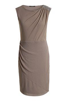 glam mesh shift dress