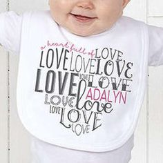 A Heart Full of Love Personalized Baby Bib