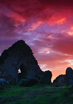 Bonamargy Friary, County Antrim, slumbers at sunset... At over 5 centuries old, we think it deserves the rest.