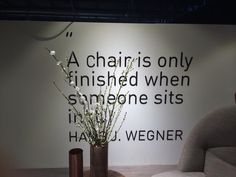 Spotted: a cool quote from Hans Wegner, master of chair design. @CarlHansen_NYC #EDUKMilan14