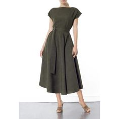 Stine Green Midi Dress (M) | Meem Label | Wolf & Badger