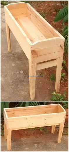 Cheap and Easy to Build DIY Wood Pallet Ideas The involvement of the planter design out of the wood pallet in houses will bring out a classy look in your house garden beauty set up. Sometime adding remarkable planter designing looks mind-blowing too. Woodworking Projects Diy, Diy Pallet Projects, Woodworking Jigs, Pallet Ideas, Diy Wood Pallet, Wooden Pallets, Wooden Diy, Diy With Pallets, Outdoor Pallet