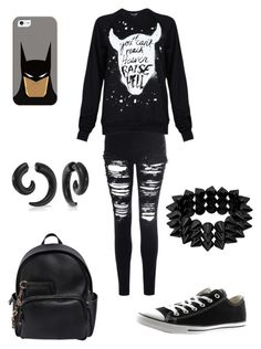 """""""⚫️⚫️⚫️"""" by donny-fashion ❤ liked on Polyvore featuring Glamorous, Black Score, Converse, Dsquared2, Casetify and Bling Jewelry"""
