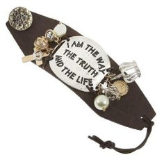 I Am The Way, The Truth and The Life Wide Leather Charm Bracelet - The Whimsical Owl