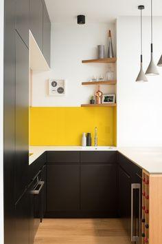 Standard Depth Of Kitchen Counter Lovely Get More Kitchen Storage with Counter Depth Upper Cabinets Kitchen Cabinetry, Kitchen Countertops, Small Kitchen Redo, Small Kitchens, Kitchen Ideas, Upper Cabinets, Modern Kitchen Design, Kitchen Storage, Counter Depth