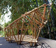 Image 11 of 12 from gallery of The Yoga Pavilion at Four Seasons / IBUKU. Bamboo Art, Bamboo Crafts, Ubud, Bali, Bamboo House Design, Bamboo Building, Bamboo Structure, Bamboo Construction, Bamboo Architecture