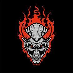 Devil illustration / logo, exploring simpler and quicker illustrations Team Logo Design, Mascot Design, Game Design, Sport Design, Design Art, Logo Esport, Art Logo, Picture Logo, Photo Logo