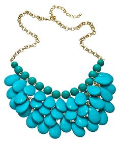 Gold Turquoise Layered Necklace