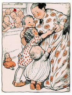 From The Kewpies and Their Book, 1911. Rose O'Neil, Artist.      AMERICAN WOMEN CHILDREN'S ILLUSTRATORS collection  by Darling & Company, Seattle, WA.