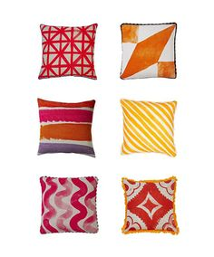 Cushion Heaven - loves these pillows from Bonnie & Neil