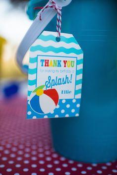 Colorful Pool themed birthday party via Kara's Party Ideas KarasPartyIdeas.com #lpoolparty (49)