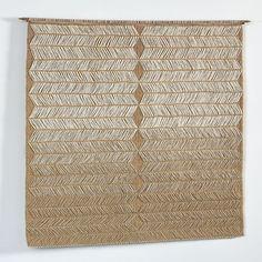 Carolina Yrarrázaval hemp and linen weaving via Brown Grotta Sheila Hicks, Textiles Techniques, Museum Of Contemporary Art, Tapestry Weaving, Museum Of Fine Arts, Hemp, Hand Weaving, Modern, Inspiration