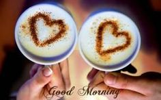 Download Good morning hearts on coffee - Good morning wallpapers for your mobile cell phone