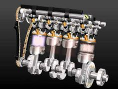 3D movie - how a car engine works