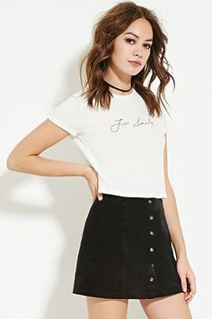 Just Smile Tee | Forever 21 - 2000167859